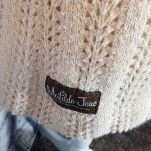 Matilda Jane Tops - MATILDA JANE WOOL BLEND OPEN KNIT SWEATER TANK TOP